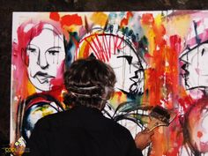 "Claudio Taddei  presentó ""Presencias"" – Exposición de arte ""PaintMusicLive"" ( II ) | cooltivarte.com"