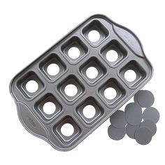 Tosnail 12 Cavity Mini Cheesecake Pan Cupcake Pan with Removable Bottom, Square >>> New and awesome product awaits you, Read it now : : Baking pans
