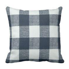 Plaid PillowsSteel Blue Pillows Spring Pillows buffalo check Pillow Cover Couch