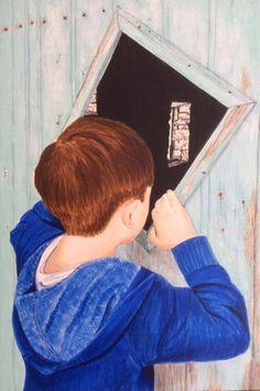 """Emerging painter Emma Martin at http://www.emmamartin.co.uk/ """"Forbidden"""""""