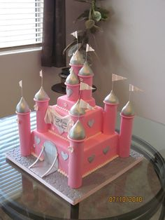 This is a replica castle that i made of a cake originally done by PInk Cake Box. Pretty easy to do, and the customer loved it! Thanks for taking a peek! Enjoy!