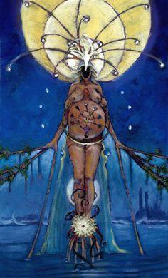 II The High Priestess - Mary-El Tarot by Marie White