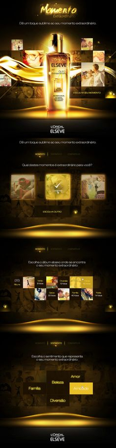 L'Oreal Momento Extraordinário | #webdesign #it #web #design #animation #layout #userinterface #website #webdesign repinned by www.BlickeDeeler.de | Visit our website www.blickedeeler.de/leistungen/webdesign