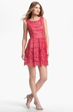 OMG!  This is adorable!!!!  Adrianna Papell Lace Fit & Flare Dress | Nordstrom