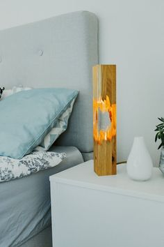This unique handmade lamp made of epoxy resin and wood(oak tree). Being a handicraft production the lamps will be different from the other. They will never be the same. You can remove and change the LED bulb easily. I can make the wood part of the lamp from oak,beech,ash,mahogany,walnut,acacia