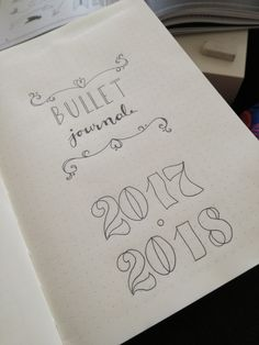 Front page of my first bullet journal. Might add some colours later, but for now I'm happy with this.