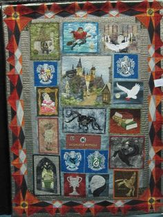 A Harry Potter Story, by Anne Francis quilt displayed at 2013 North Carolina Quilt Symposium.  Image only.