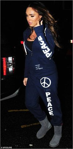 Tamara Ecclestone decked out in Peace Love World!  www.peaceloveworld.com