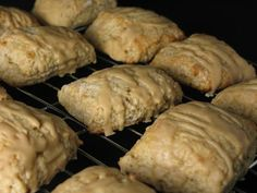Peanut butter banana scones. I really love these! Add a few chocolate chips for my favorite combination