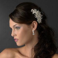 wedding hair with hair comb