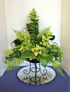 All Foliage Designs Contemporary Flower Arrangements, Tropical Floral Arrangements, Unique Flower Arrangements, Vase Arrangements, Unique Flowers, Beautiful Flowers, Altar Flowers, Church Flowers, Funeral Flowers