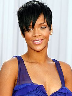 Even though I'm white...I still admire Rihanna's short hair.