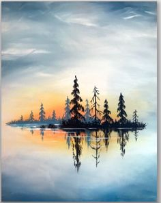 restaurant night Join us for a Paint Nite event Tue Jan 2019 at 4030 Main St Hilliard, OH. Purchase your tickets online to reserve a fun night out! Landscape Drawings, Landscape Art, Art Drawings, Drawing Sunset, Afrique Art, Drawn Art, Guache, Painting & Drawing, Lake Painting