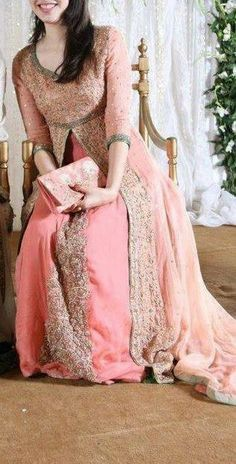 Get it at amani www.facebook.com/2amani #Anarkali dress    Pakistani wedding dress