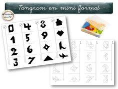 """Petite compilation de mini-fiches """"énigmes de tangram & solutions"""" individuelles, pour les cahiers de géométrie. Une activité calme en autonomie !"""