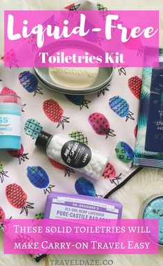 Discount Airfares Through The USA To Germany - Cost-effective Travel World Wide Ever Considered Making A Liquid-Free Toiletries Kit? It's Perfect For Carry-On Only Travelers, And Will Make Getting Through Tsa Super Easy. Here Are My Fave Products Packing For Europe, Packing Tips For Travel, Travel Hacks, Travel Advice, Travel Essentials, Travel Beauty Routine, Carry On Toiletries, Packing Toiletries, Minimal Travel