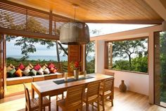 Built by Benjamin Garcia Saxe Architecture in Puntarenas Canton, Costa Rica with date Images by Garcia Lachner photography. The Gooden-Nahome family wanted to create a home on the Pacific Coast of Costa Rica and they found an incredible site. Home Design, Design Blog, Design Ideas, Tuscan Decorating, Interior Decorating, Interior Design, Home Deco, Houses In Costa Rica, Modern Wooden House