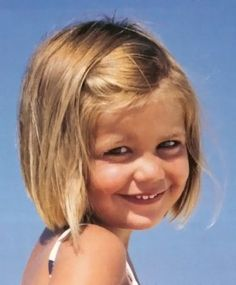 cute short hairstyle for little girl.   I just love bobs on little girls...