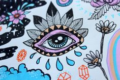 on zentangles коллаж, рисунки, вдохновение Inspiration Art, Art Inspo, Arte Sketchbook, Hippie Art, Tips & Tricks, Eye Art, Psychedelic Art, Easy Drawings, Doodle Art