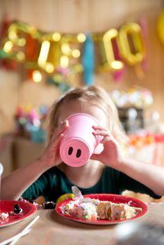 Pig nose cup from a Glamorous Barnyard Birthday Bash via Kara's Party Ideas   KarasPartyIdeas.com (10)