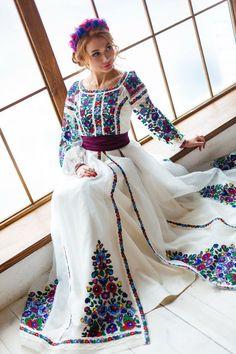 Exclusive embroidered dress Brand OKSANA POLONETS Abaya Fashion, Muslim Fashion, Ethnic Fashion, Fashion Dresses, Embroidery Fashion, Embroidery Dress, Ethno Style, Stylish Dresses, Formal Dresses