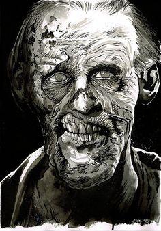 Zombie by Matt Soffe Zombie Comic, Zombie Army, Zombie Face, Zombie Girl, Zombie Illustration, Illustration Art, Zombie Decorations, Zombie Princess, Zombie Drawings