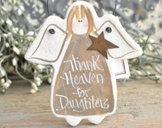 Daughter Gift Salt Dough Ornament / Christmas  / Birthday Gift for Daughter