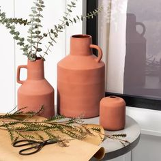 Large Terracotta Vase - Hearth Hand™ With Magnolia : Target Bottle Vase, Glass Bottles, Glass Vase, Terracotta, Black And White Dining Room, Hearth And Home, Vases Decor, Ceramic Vase, Bud Vases