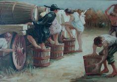 """""""Scene dei contadini"""" 100x50, Olio su tela"""
