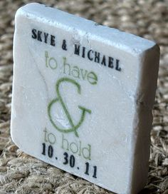 To Have and to Hold Wedding Favors Green Save the by MyLittleChick, $61.25