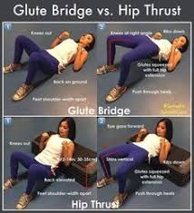 Hip Thrust Have you ever wondered what differentiates the glute bridge from the hip thrust? Both exercises fall into the bent-leg hip-dominant category and involve high load on the hips and high activation of the glutes. As you can see Hip Thrust Workout, Butt Workout, Gym Workouts, At Home Workouts, Barbell Hip Thrust, Killer Workouts, Fitness Exercises, Body Fitness, Training