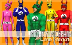 Mighty Morphin Halloween Costumes