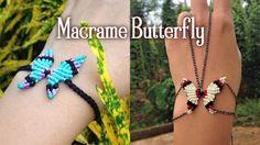 Macrame Butterfly necklace or bracelet tutorial - YouTube