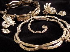 Amazing Crown Trifari set Necklace Bracelet by LaytonandEverett