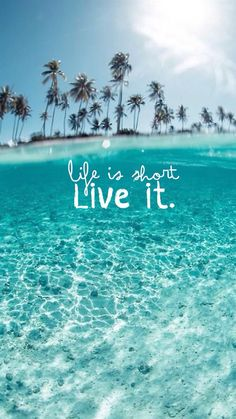 Wonderful Clear Ocean Beach Life Is About Live It #iPhone #6 #plus #wallpaper