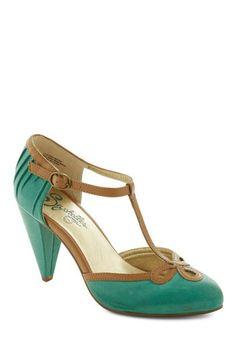 Seychelles All Dressed Up Heel in Matte Jade | Mod Retro Vintage Heels | ModCloth.com