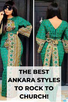 Best Stylish Ankara Styles for Church 2019 - Esther Adeniyi African Wear Dresses, African Wedding Dress, African Attire, Modest Fashion Hijab, Skirt Fashion, African Print Fashion, Africa Fashion, Trendy Ankara Styles, Mode Vintage