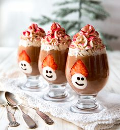 Winter Solstice, Food Inspiration, Panna Cotta, Xmas, Christmas, Goodies, Food And Drink, Pudding, Baking