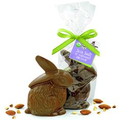 Lake Champlain Organic Sea Salt and Almond Bunny #easter #sweets