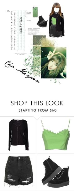 """Cho Miyeon"" by aesthicofficial ❤ liked on Polyvore featuring Velvet by Graham & Spencer, Moschino Cheap & Chic, Topshop and Casetify"