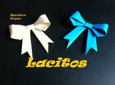 Origami - Papiroflexia. Easy bow