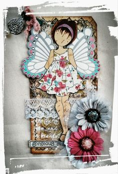 Prima Doll Tag ..... Love the flutterby wings