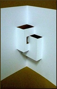 This kirigami, Stairs, is created by using a single sheet Origami And Kirigami, Origami Paper Art, Diy Paper, Paper Crafts, Paper Structure, Origami Architecture, Pop Up Art, Karten Diy, Paper Engineering