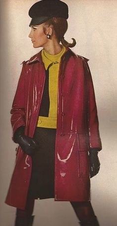 1960s Patent Leather coat