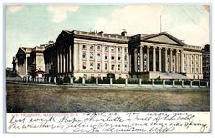 1907 US Treasury Department, Washington, DC postcard