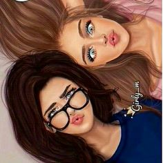 -this is me and my bff if a fain one Best Friend Sketches, Friends Sketch, Best Friend Drawings, Girly Drawings, Disney Drawings, Bff Pictures, Best Friend Pictures, Sisters Drawing, Image Princesse Disney