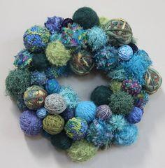 Handmade Knitter's Wreath