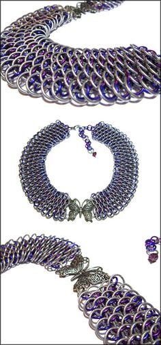 Butterfly Chainmaille Choker