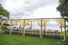 Seaside Luxury Dining at Kukahiko Estate - wedding designed and coordinated by Bliss Wedding Design