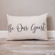 Be Our Guest Pillow Personalized Pillows Custom